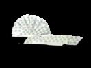 Tovaglioli in carta a secco Tessuto di cellulosa bianco con stampa colorata